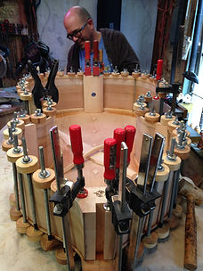 Seth Kimmel Gluing Up A Handmade Double Bass Violin