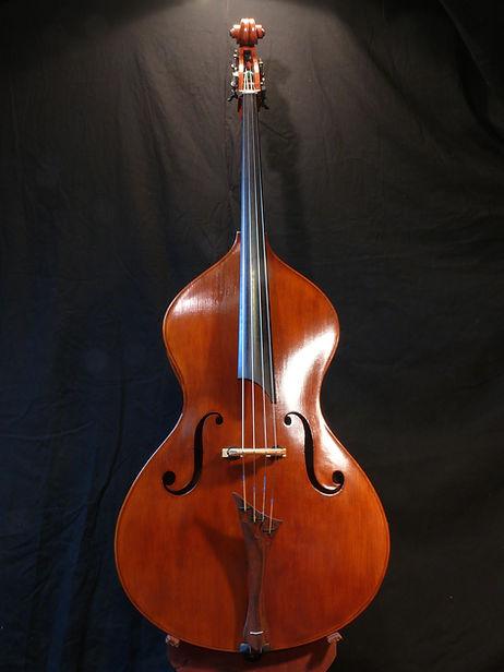 ©Seth Kimmel 2015 pear-shaped custom bass violin hand made in America we call it BigFoot's Guitar