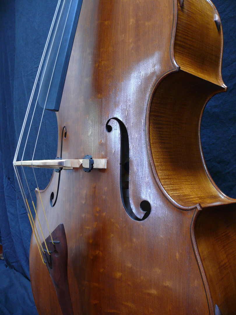 This Bass Top is Made of European Spruce--That Gorgeous Figure is Often Called Bear-Claw