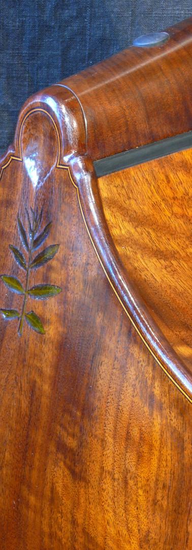 #51 real walnut leaf inlay