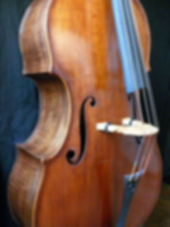 Image Kimmel bass #20 Mill St. Milanese © Seth Kimmel, Bass Maker, Eugene, Oregon, USA
