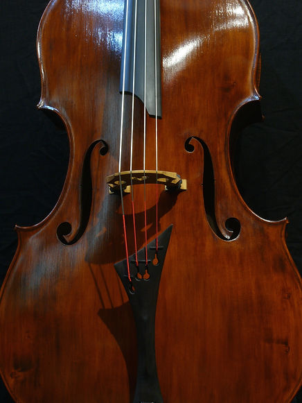image Kimmel Bass #46 Mill St. Milanese model ©2016 by Seth Kimmel  Bass maker/luthier of American made, real wood, hand-carved, double bass violins; Eugene, Oregon, USA