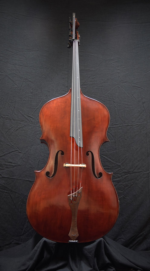 image of Bass #71 Grand Panormo model  hand made by Seth Kimmel: Maker of real wood double bass violins and 'cellos; Made in USA; Eugene, Oregon; ©2021 by Seth Kimmel