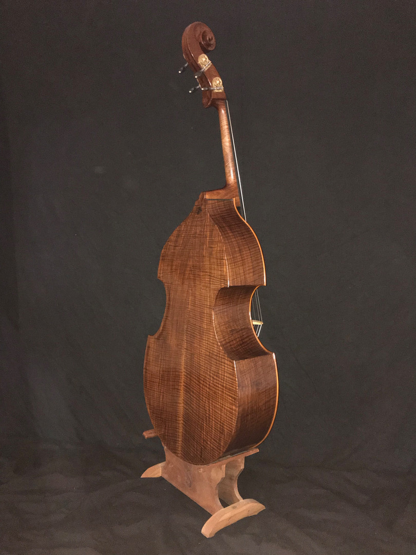 #60  Pacific Violone with Walnut Back and Sidess