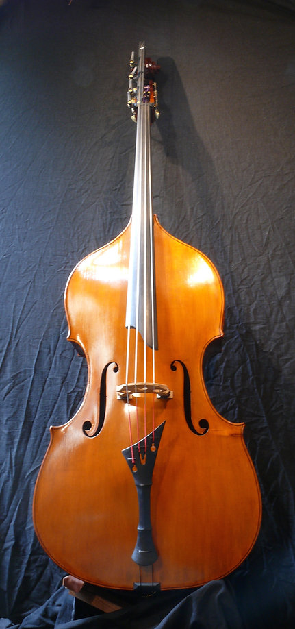 image of Double Bass #51 ©2017 by Seth Kimmel  Bass maker/luthier of American made, real wood, hand-carved, double bass violins; Eugene, Oregon, USA