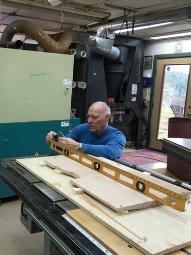 Larry at Nova Woodworks makes sure things start out precisely.
