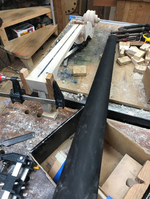 FingerBoard about to go on to the Removable Neck