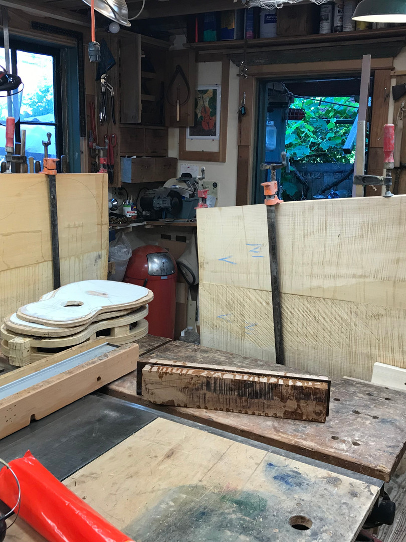 The Wood for the Front and Back of a Double Bass Violin