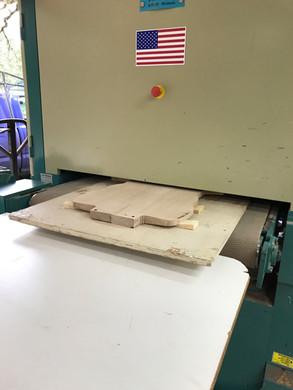 Big thickness sander at Nova Woodworks