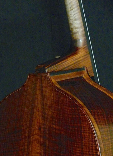 image of Chuck Israels' Busetto ©2016 by Seth Kimmel  Bass maker/luthier of American made, real wood, hand-carved, double bass violins; Eugene, Oregon, USA