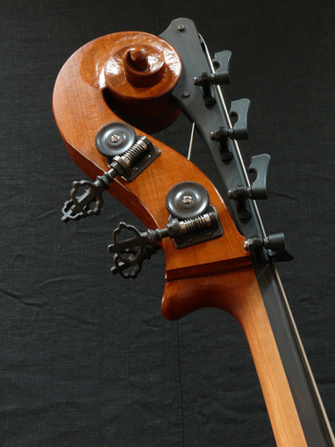 Scroll Featuring Sloan Tuning Machines with Viennese  Keys with a Brown Patina Finish