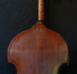 image of Kimmel brand below removable neck©2017 by Seth Kimmel  Bass maker/luthier of American made, real wood, hand-carved, double bass violins; Eugene, Oregon, USA