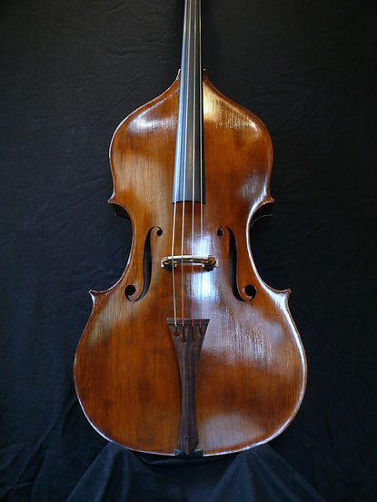 image Kimmel Bass #44 Mill St. Milanese model ©2016 by Seth Kimmel  Bass maker/luthier of American made, real wood, hand-carved, double bass violins; Eugene, Oregon, USA