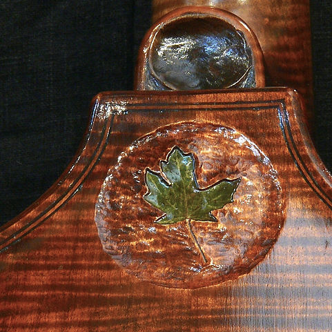 image custom inlay Kimmel Bass #46 Mill St. Milanese model ©2016 by Seth Kimmel  Bass maker/luthier of American made, real wood, hand-carved, double bass violins; Eugene, Oregon, USA