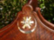 image of custom inlay ©2017 by Seth Kimmel  Bass maker/luthier of American made, real wood, hand-carved, double bass violins; Eugene, Oregon, USA