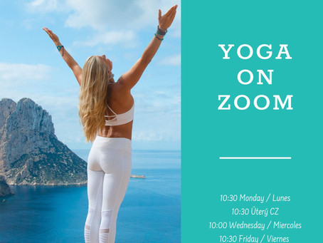 ONLINE YOGA - Classes on Zoom live from Ibiza