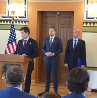 Ambassador Nelson at Mine Free Sarajevo Press Conference kickoff