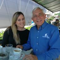 Perry meeting with landmine survivor Selma Guso