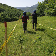 Mine clearance work in Stari Grad