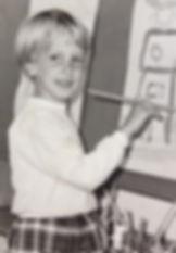 Ik als vijfjarige