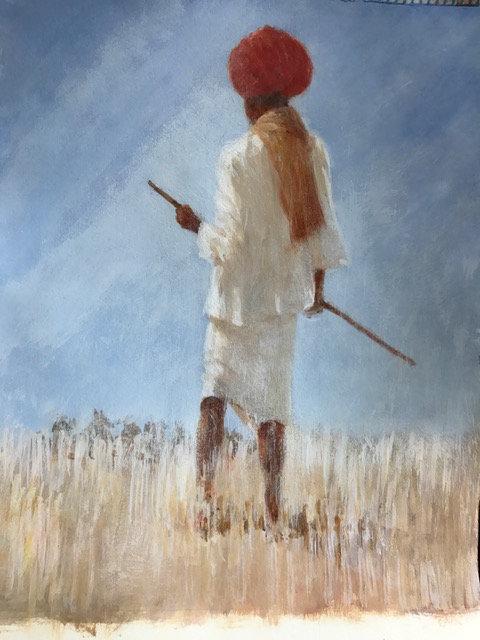 Goatherd in Red Turban