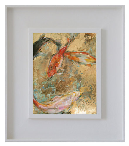Goldfish in Red and White