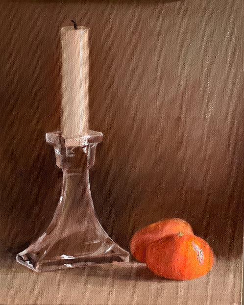 Clementines and Candle