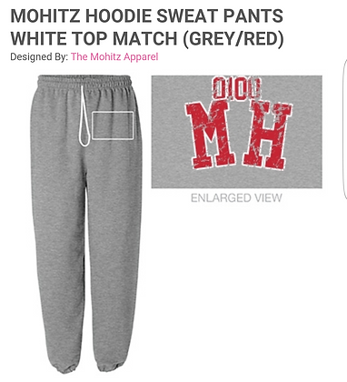 GRAY MH SWEATS (RED LETTERS)