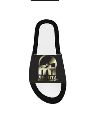 Black/Gold Whodat Mh Slippers
