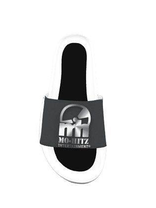 Black/Silver/White Mh Slippers