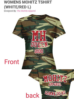 WOMEN'S CAMOUFLAGE MH JERSEY TEE (RED&PINK-L)