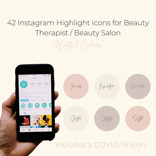 42 Instagram Highlight Icons for Beauticians