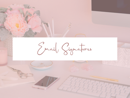 What's your email signature saying?