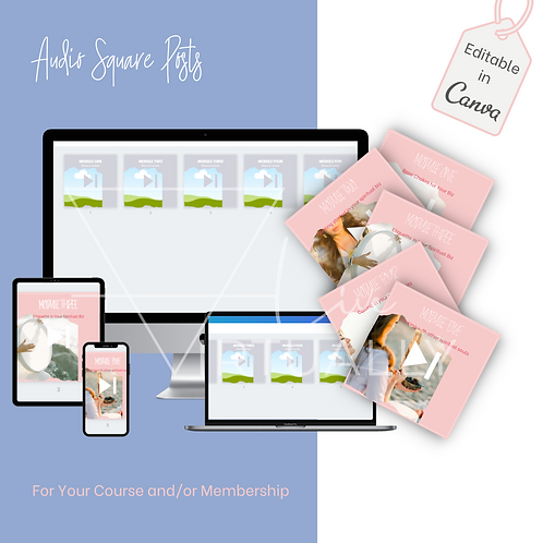 Audio Square Posts for course/membership
