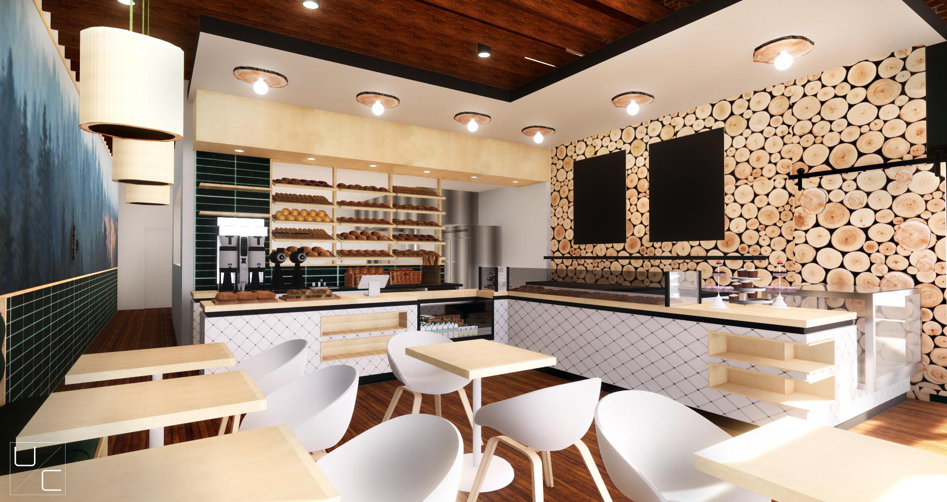 INTERIOR- Rendering from Banquette