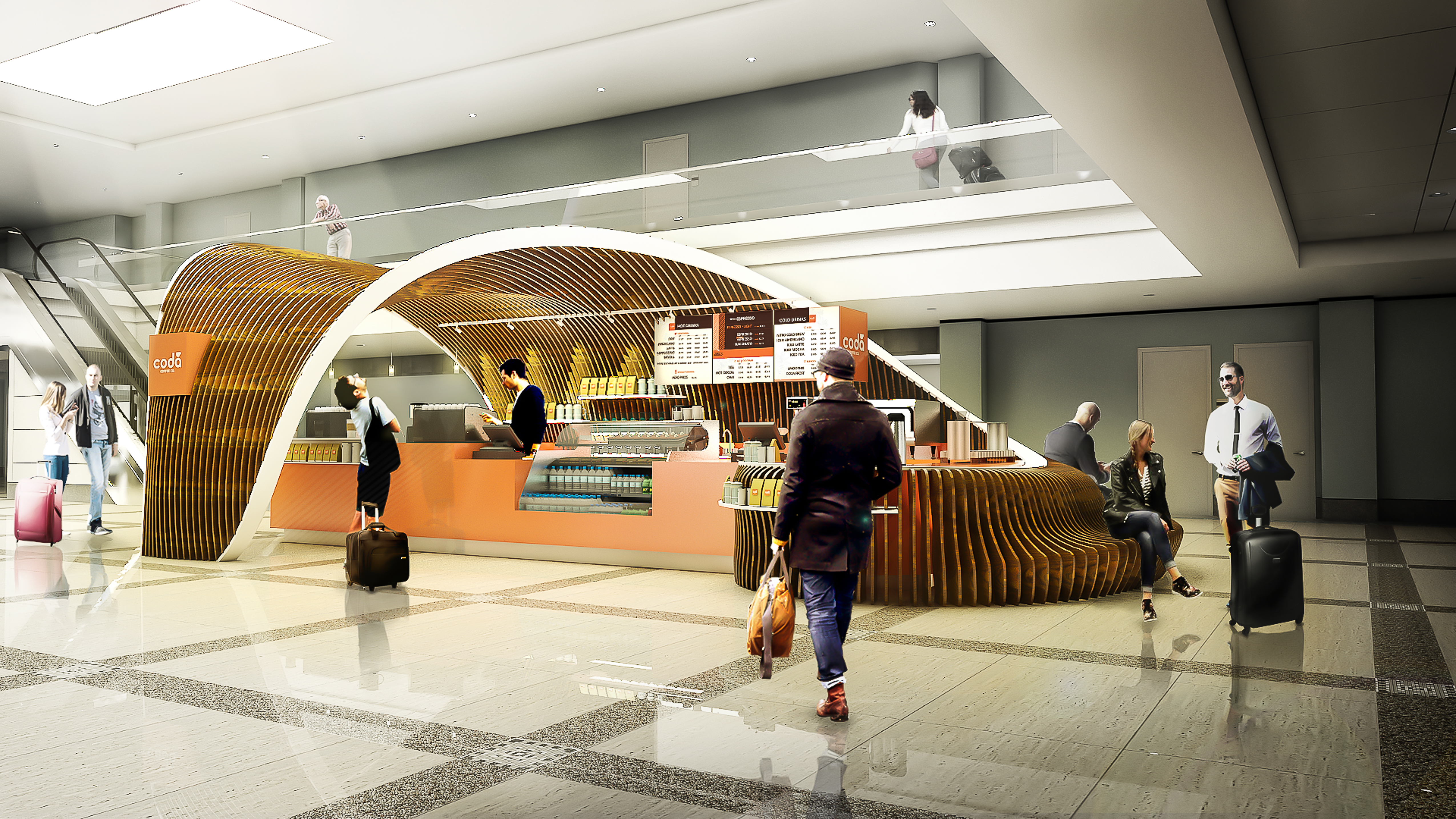 CONCOURSE A- Rendering