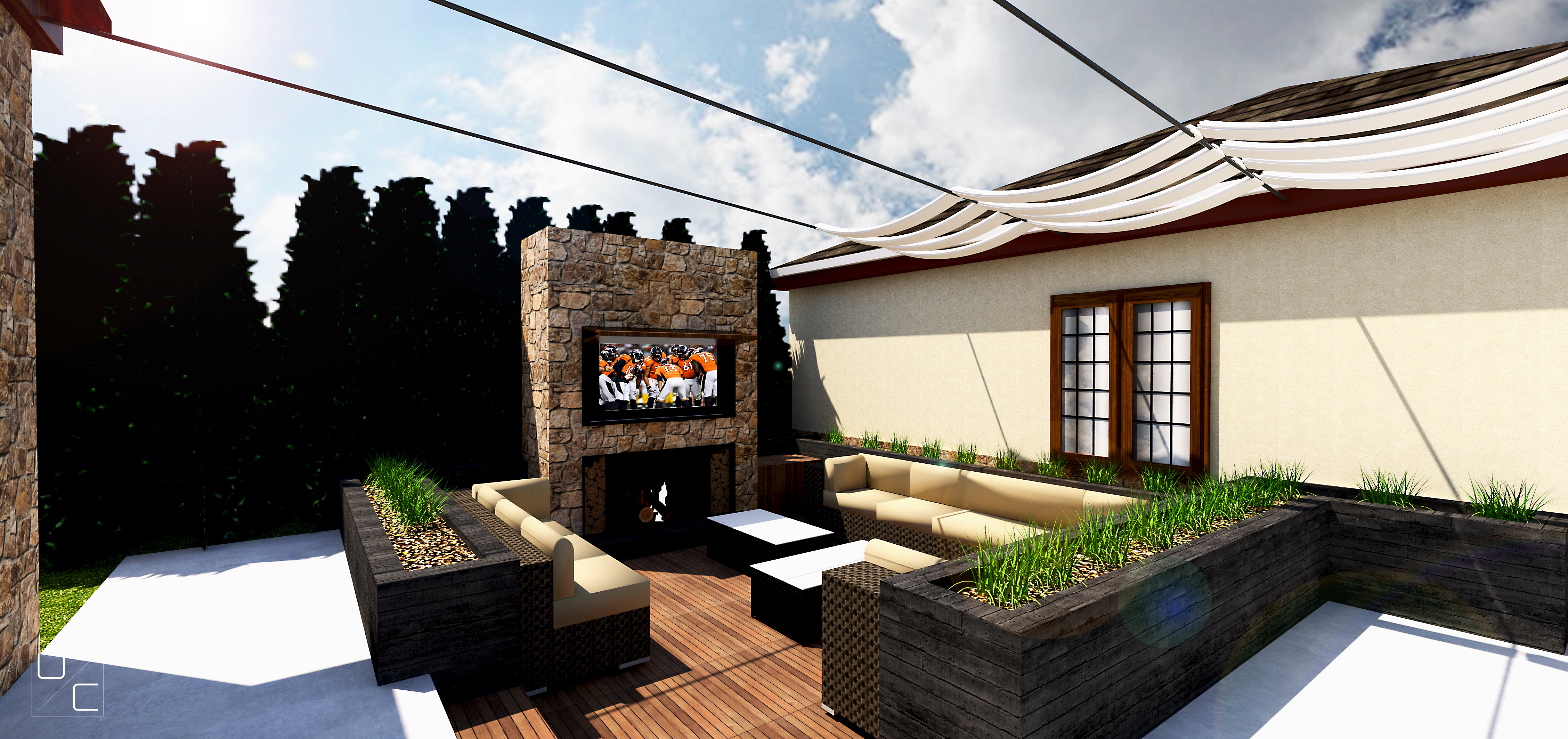 EXTERIOR- Rendering from deck
