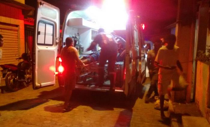 Samu chegou a socorrer vítima. Foto: Leitor BMF / WhatsApp