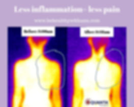 More blood flow, less inflamation, less
