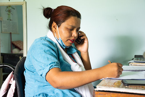 Mobile phone for a healthcare worker