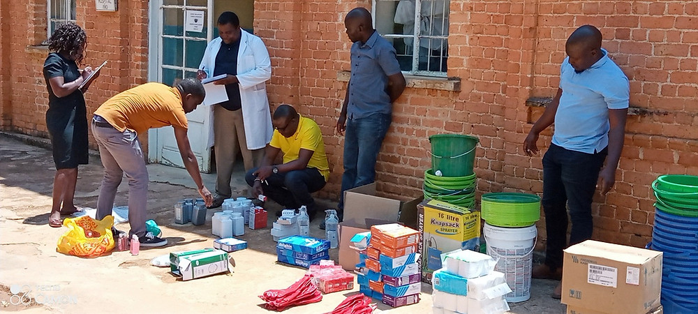 Hospital staff take stock of PPE and medical supplies