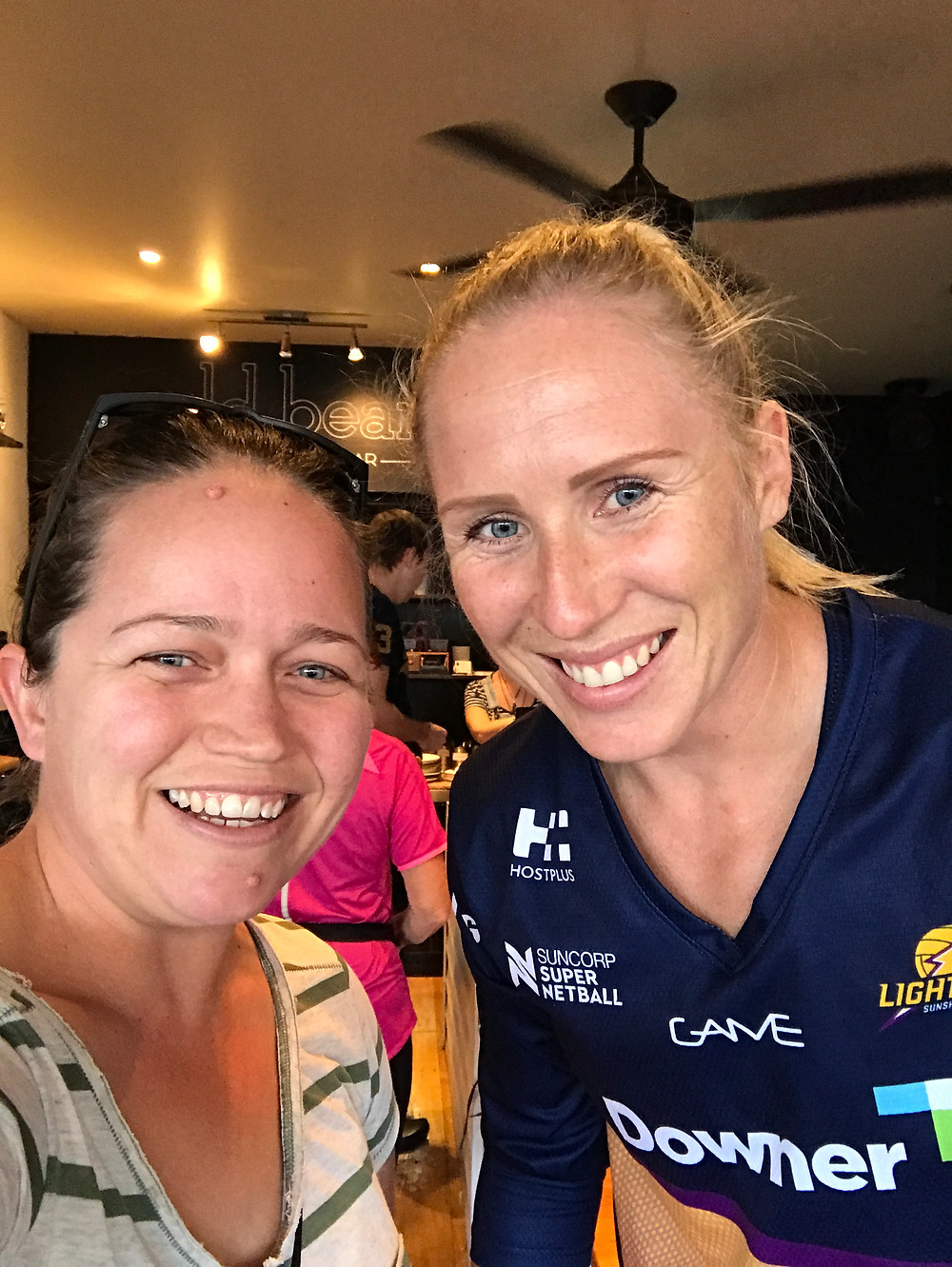 Bec and the legendary Laura Langman