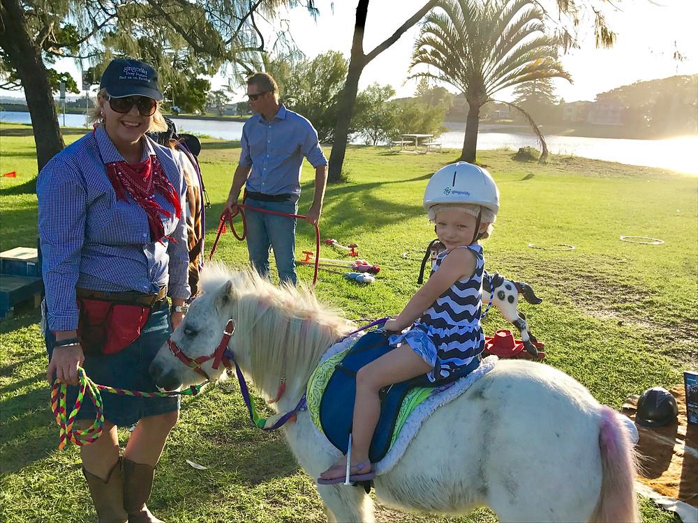 Pony rides at Ballina