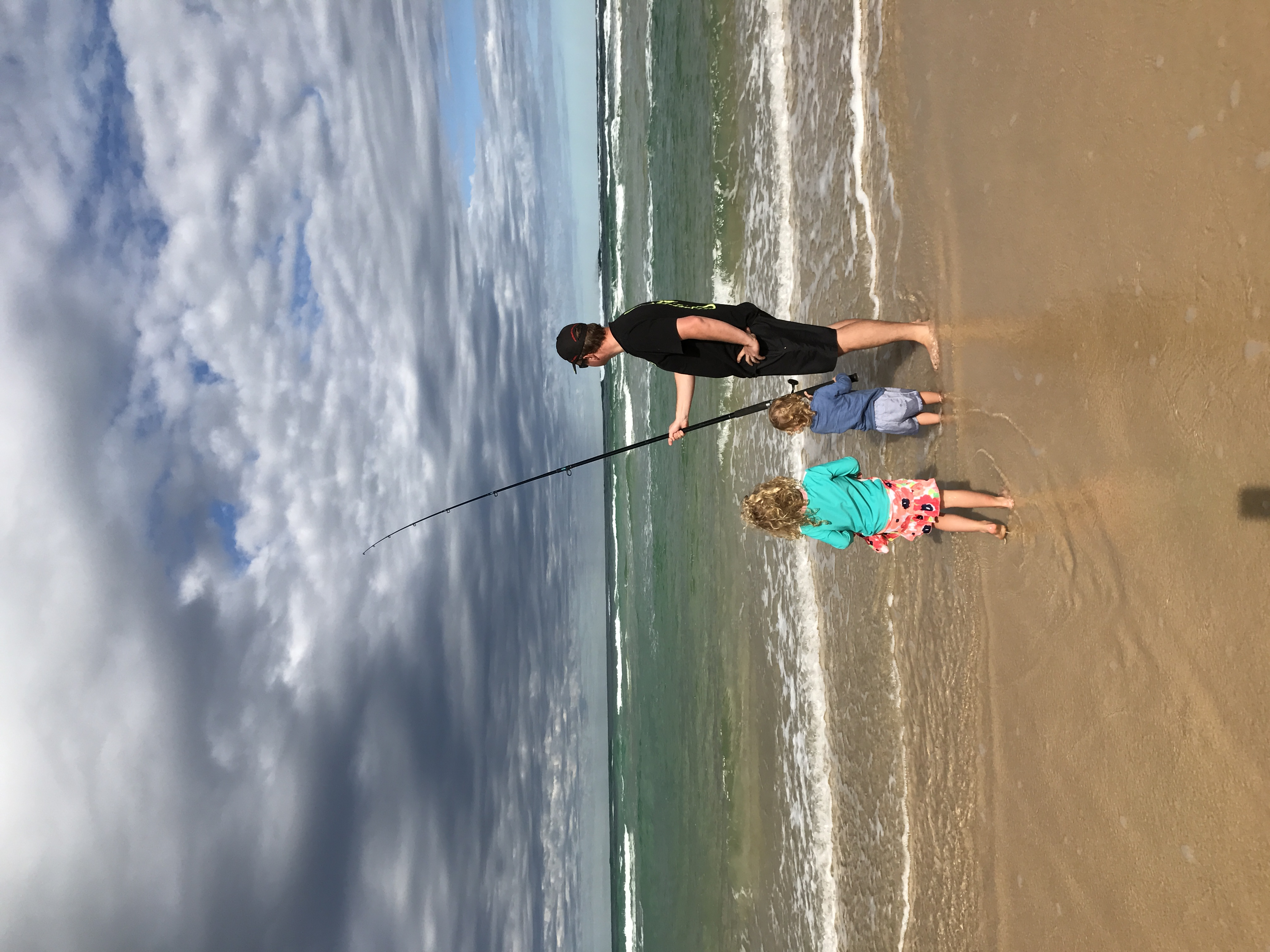 Fishing on 75 Mile Beach