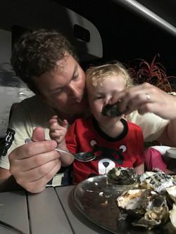 Finn's first oyster