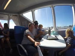 All aboard the Heron Islander