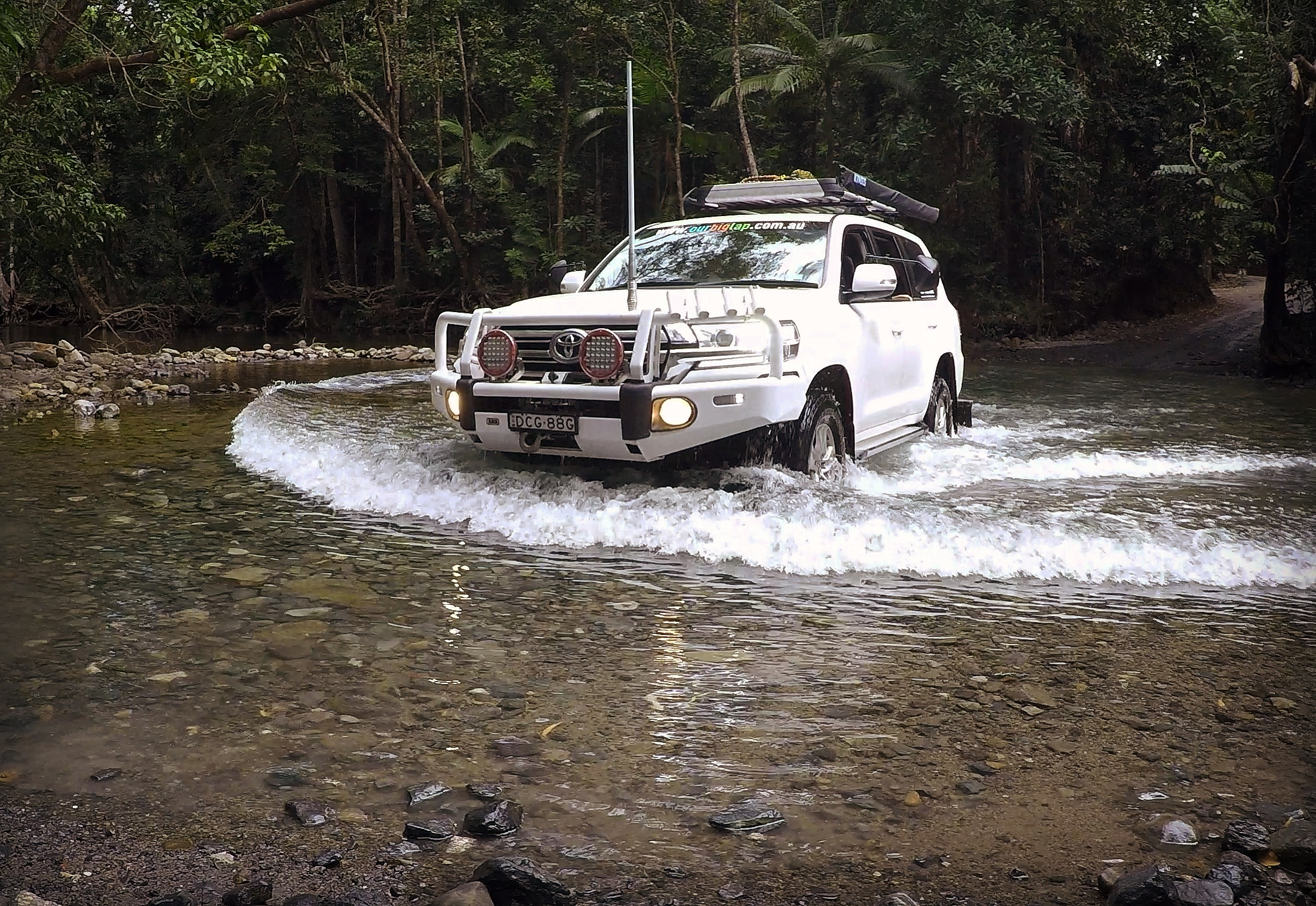 Crossing Emmagen Creek, Daintree