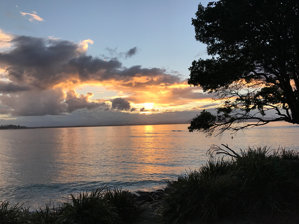 Sunset from our caravan. Trial Bay, South West Rocks