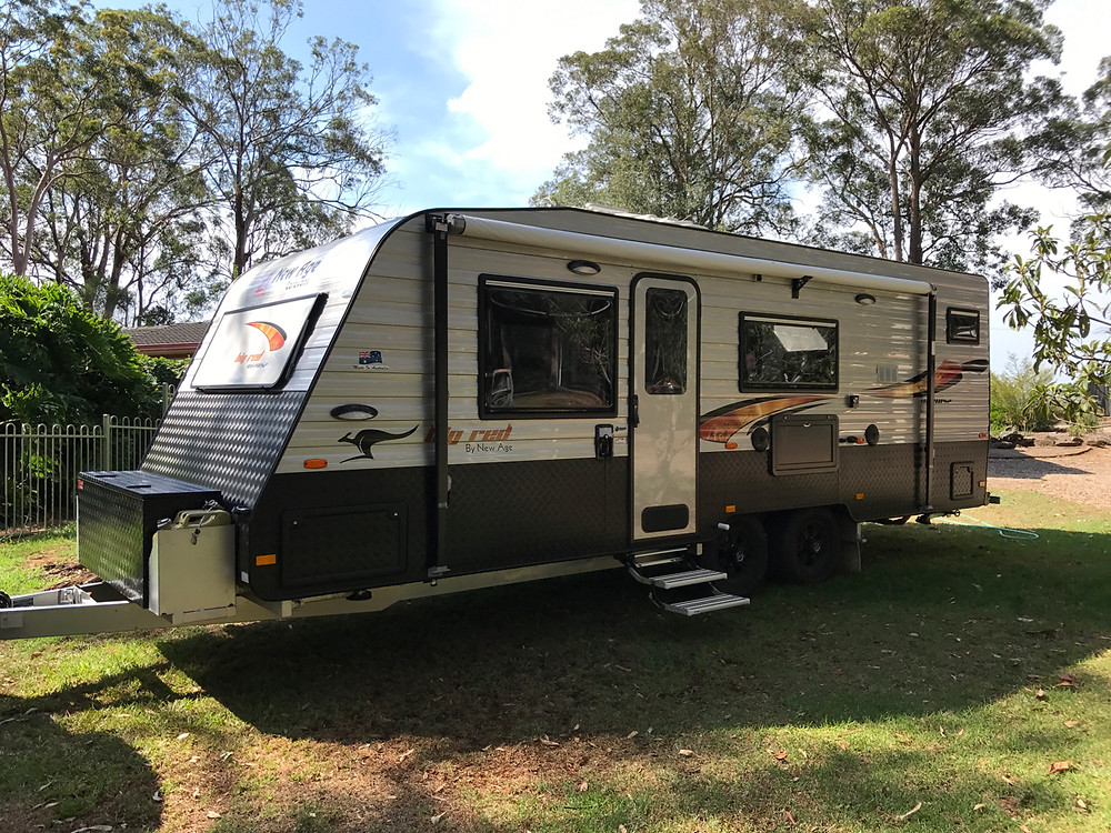 Our dream caravan New Age Big Red