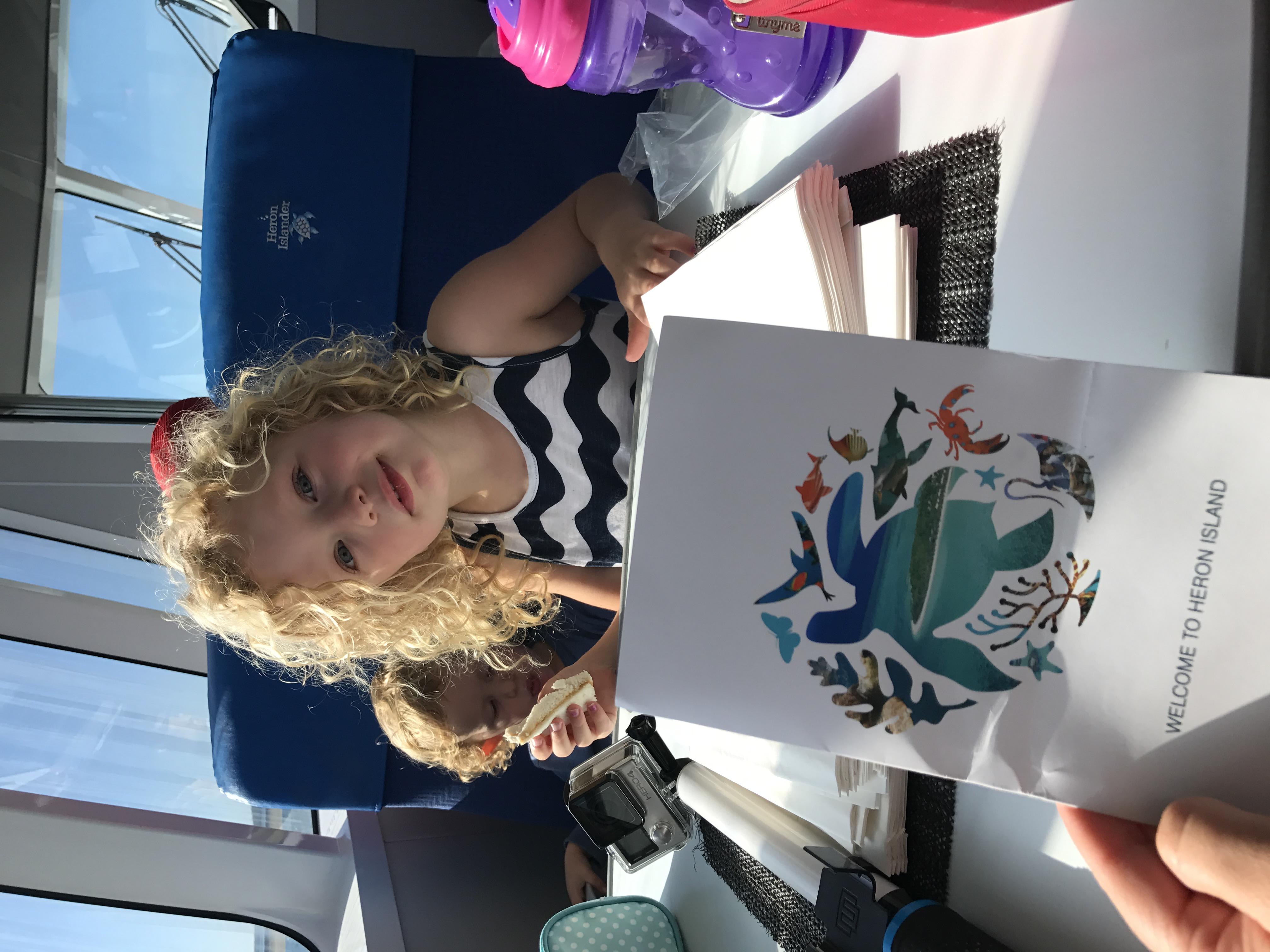 Ava ready to go to Heron Island